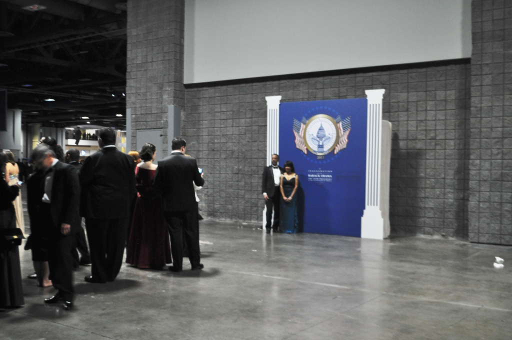 Blue Ticket Attendees of the Official Inaugural Ball Stand in Line to Create New Facebook Profile Photos, Washington, D.C., Jan. 21, 2013