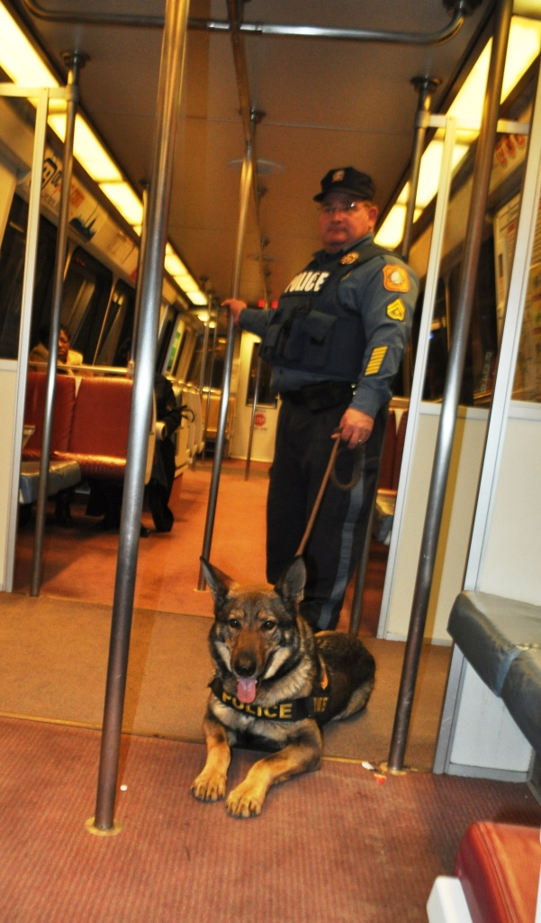 Allan and His Handler Were one of Several K9 Teams that Traveled to Keep Inauguration Attendees Safe, Washington, D.C., Jan. 21, 2013