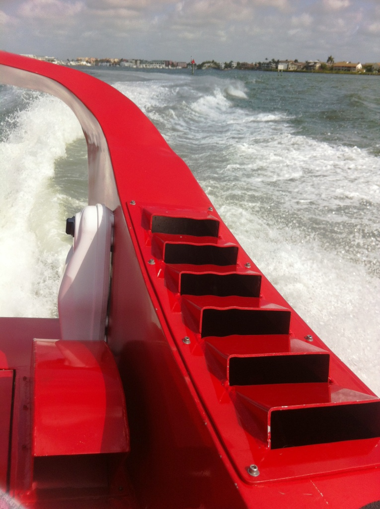 "Jet Boat ""Odin"" Speeds through a Naples Waterway"