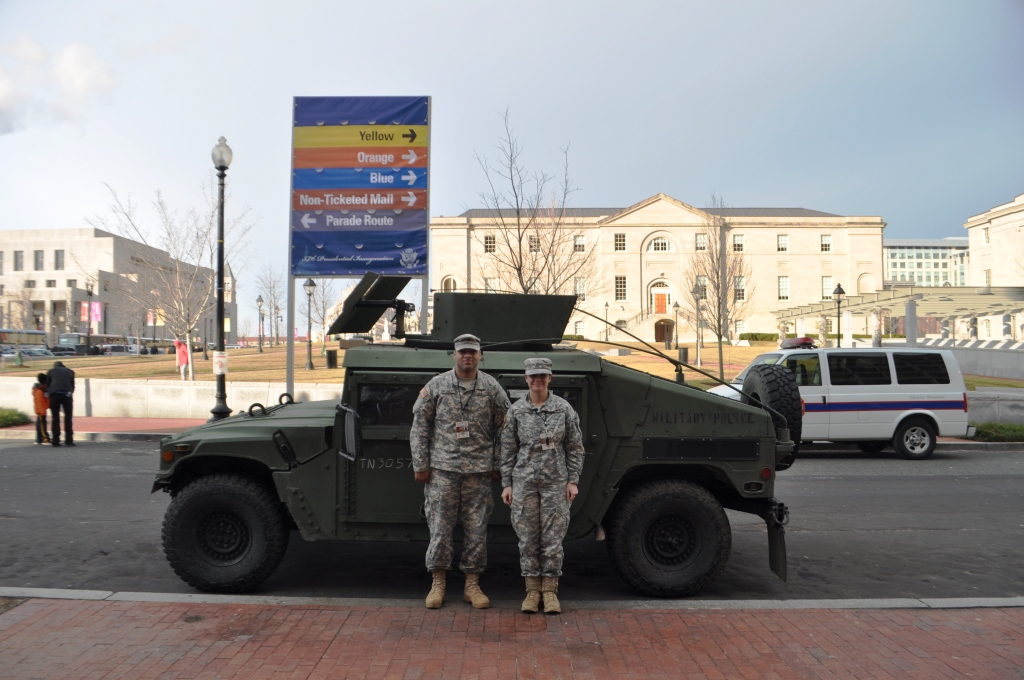 Members of the National Guard Protecting Our Freedoms during the 57th Presidential Inauguration, Washington, D.C., Jan. 21, 2013