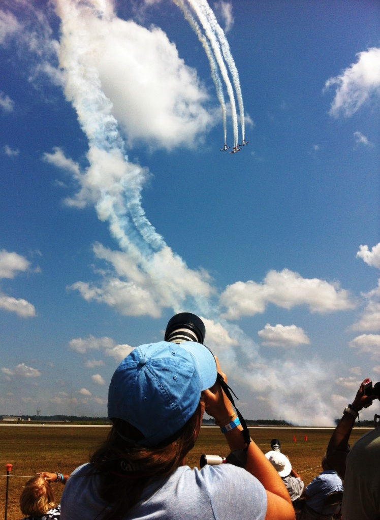 One of the Hobby Photographers Snapping AeroShell Aerobatic Team, Florida International Air Show, March 2013