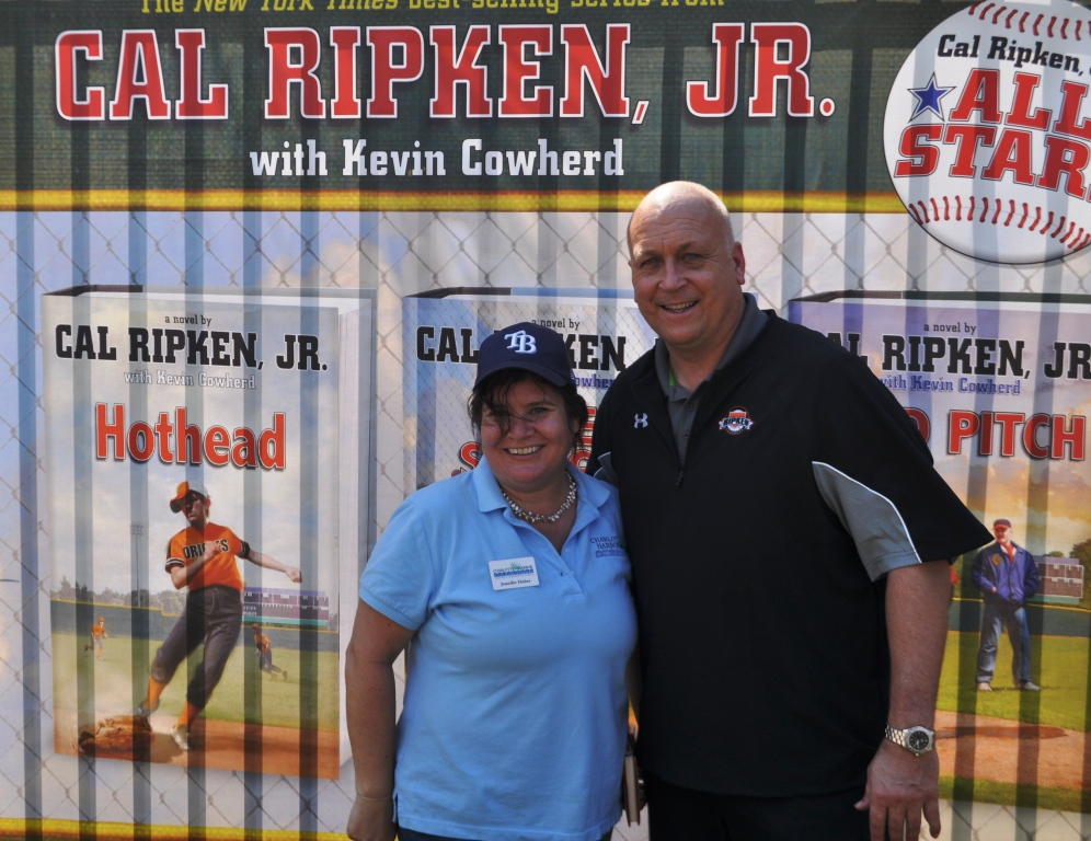 Me with Cal Ripken, Jr. during His 'Wild Pitch' Book Tour Stop at the Charlotte Sports Park, Port Charlotte, Fla., March 10, 2013