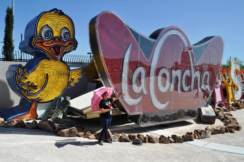 Touring the Neon Boneyard of the Neon Museum, Las Vegas, Nevada, April 2013