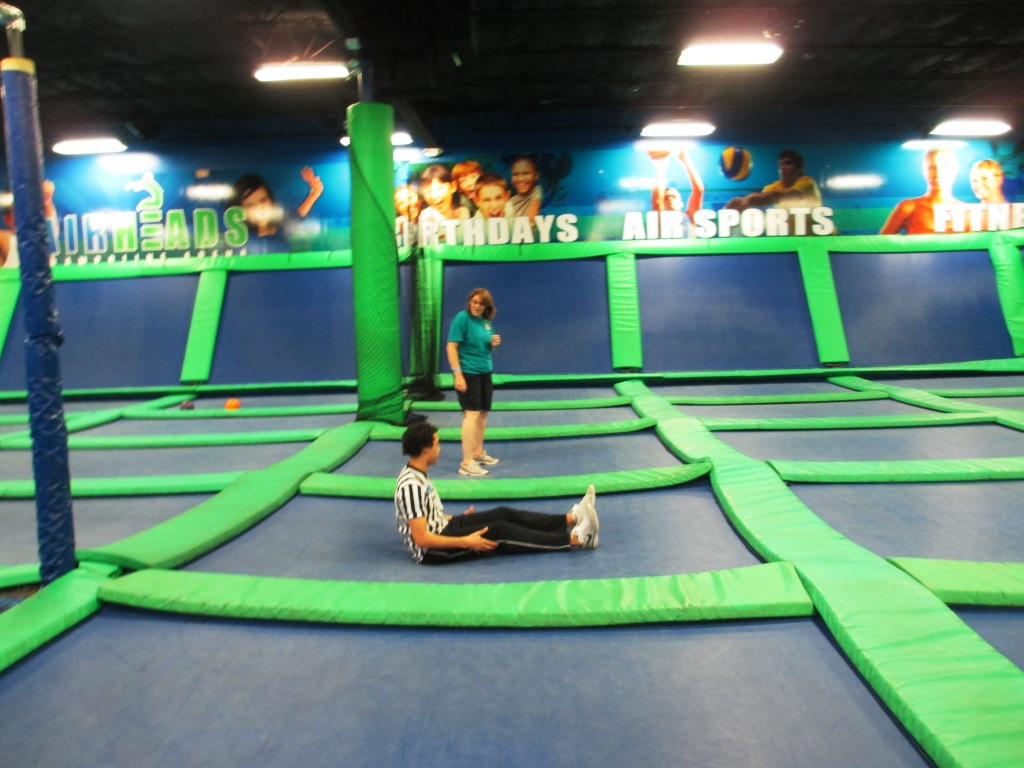 Val Learns Some Fitness Moves at AirHeads Trampoline Arena, Orlando, Fla., May 4, 2013
