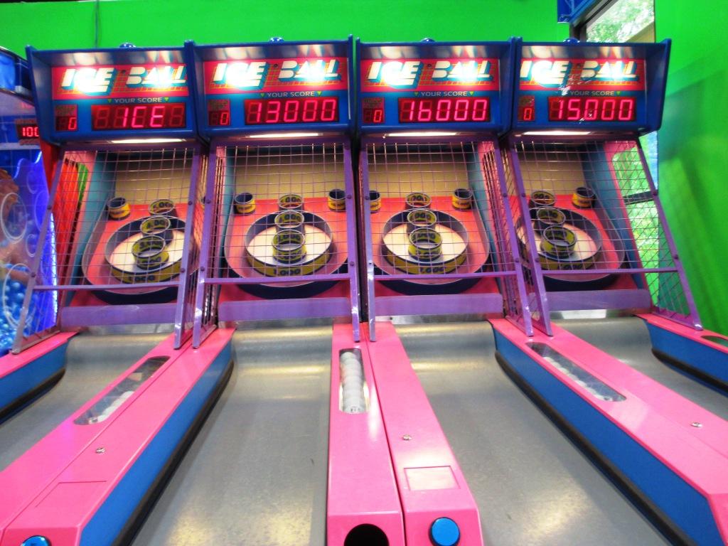Wheee! Skee-ball at AirHeads Trampoline Arena, Orlando, Fla.