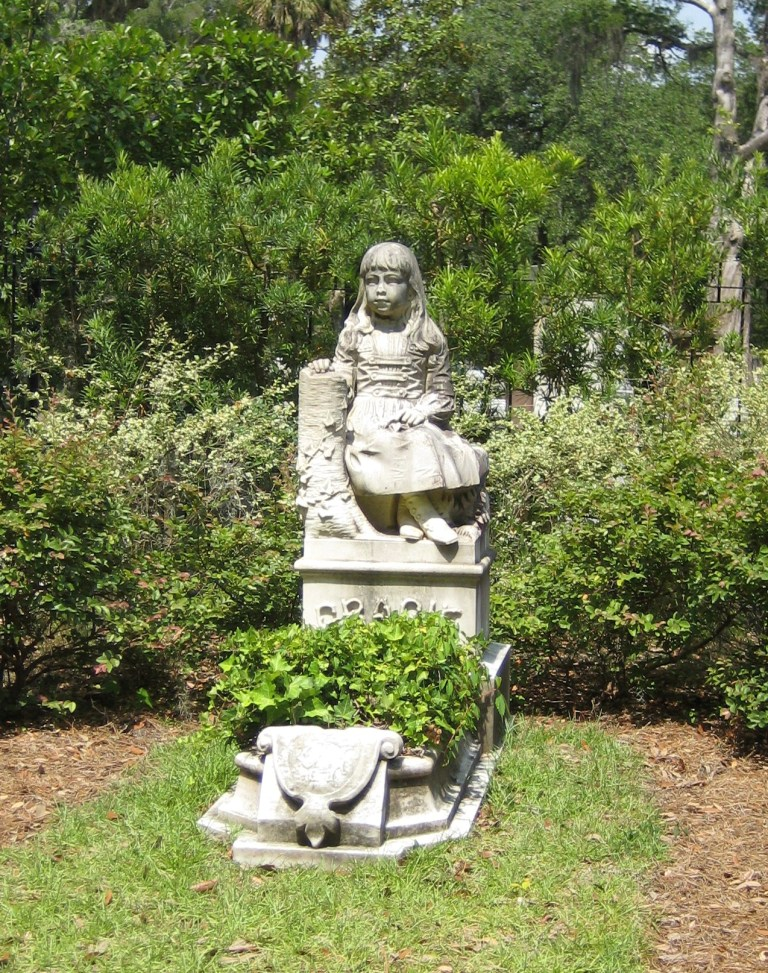 Little Gracie Watson Gravesite at Bonaventure Cemetery, Savannah, Ga.