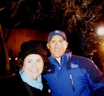Me with Jim Cantore(!) of The Weather Channel, 2009 Presidential Inauguration, January 2009