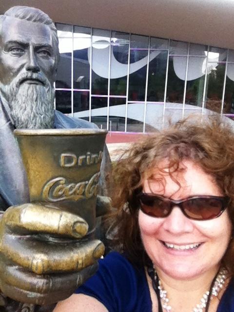 Drink Coca-Cola! Me and Dr. Pemberton at the World of Coca-Cola, Atlanta, Ga.