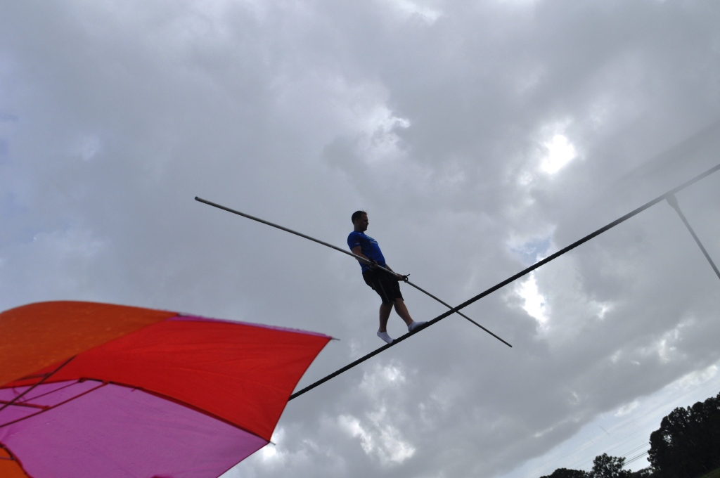 A little rain didn't stop Nik Wallenda during his last public Sarasota training for his June 23 Grand Canyon Walk, June 19, 2013