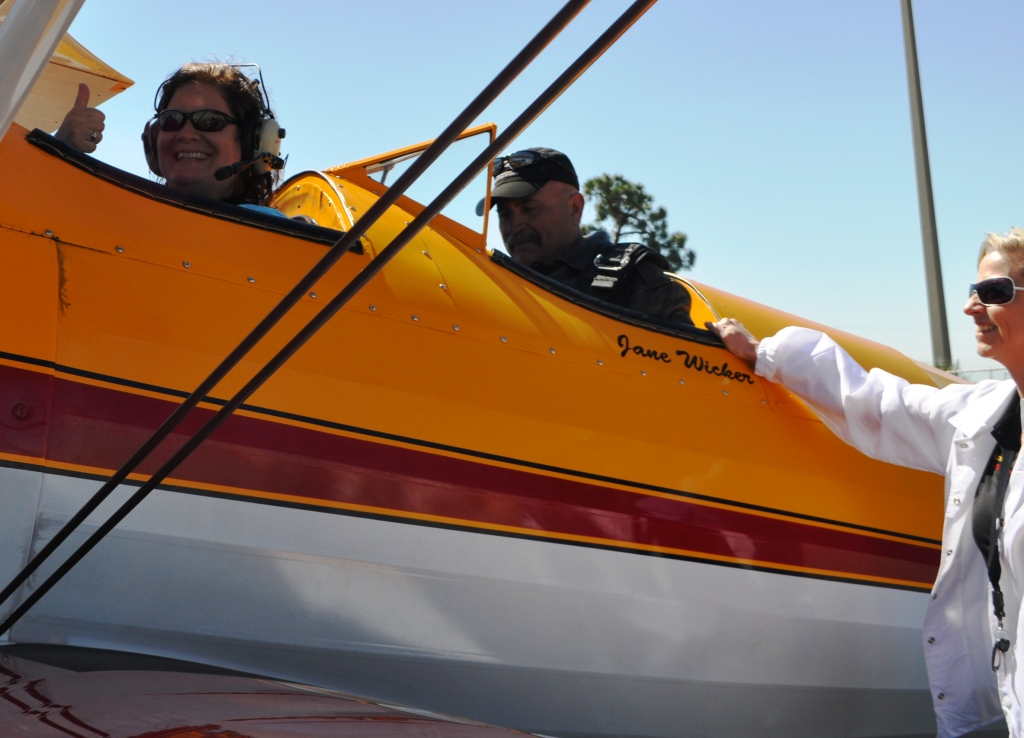 That's Me in the Front, Pilot Bill Gordon and Jane Wicker. She Just Buckled Me into Her Seat, Punta Gorda, Fla., March 21, 2013.