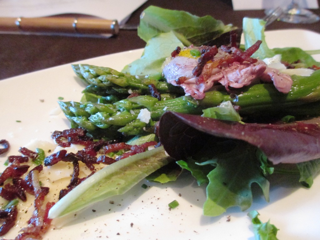 Fresh Ingredients are Incorporated into Chilled Cork Restaurant Dishes. Here's the Ontario Asparagus Salad