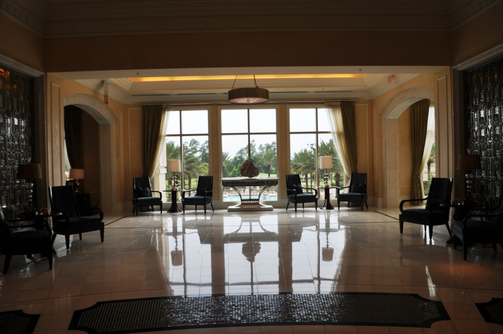Peaceful Lobby of Waldorf Astoria Orlando