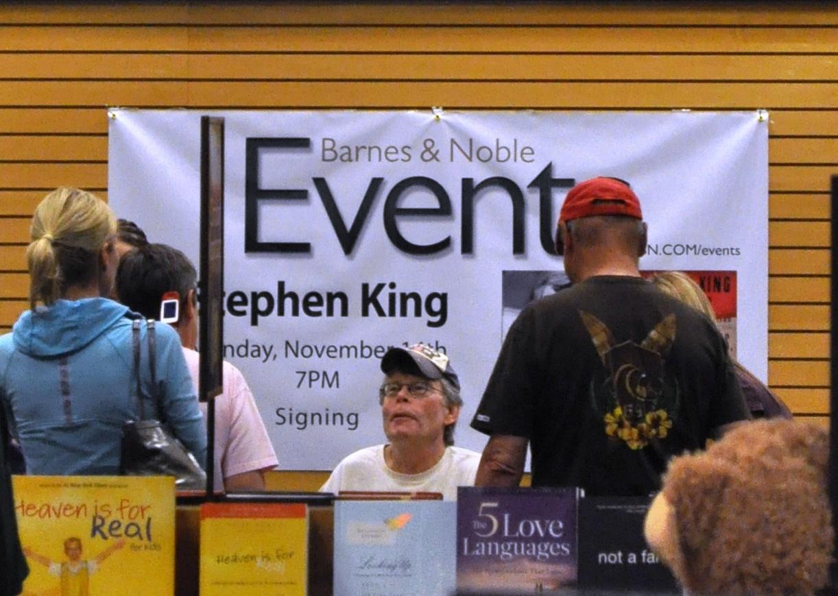 Stephen King during a Sarasota, Fla., Book Signing on Nov. 14, 2011