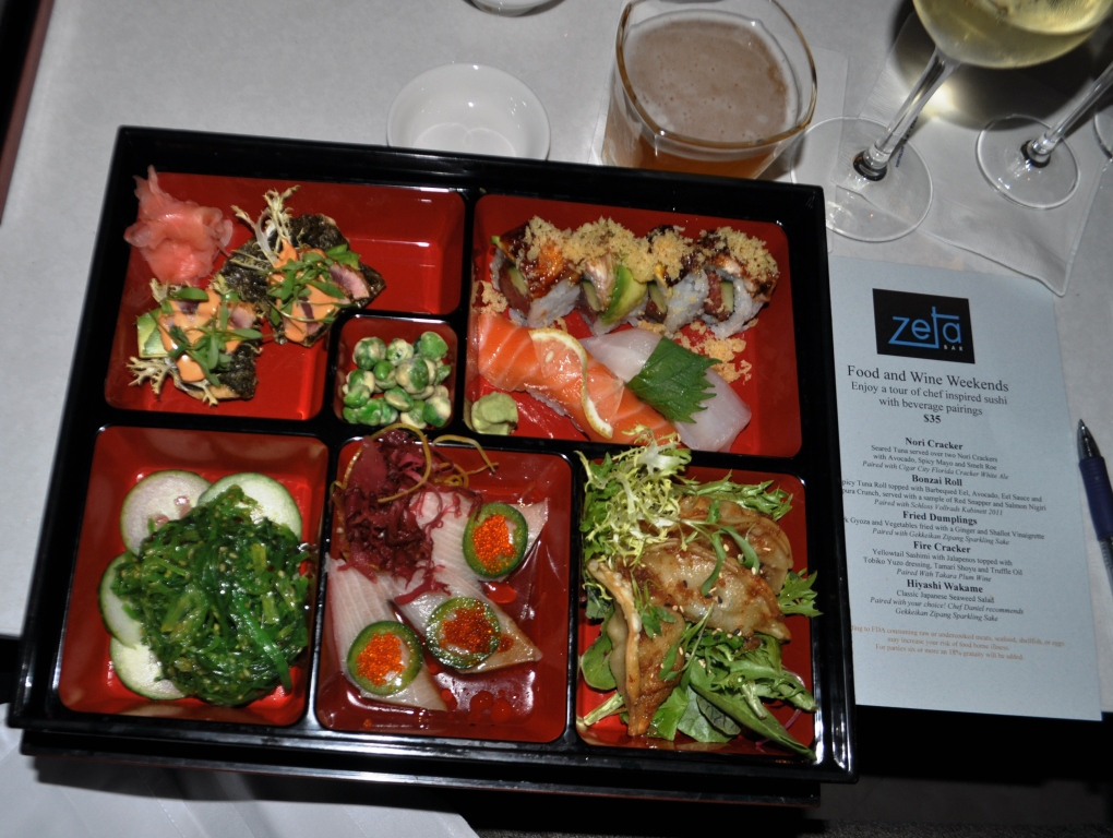 See My Cheat Sheet? Pea Ringu - The Art of Sushi Pairing, Zeta Bar & Sushi Lounge, Hilton Orlando Bonnet Creek