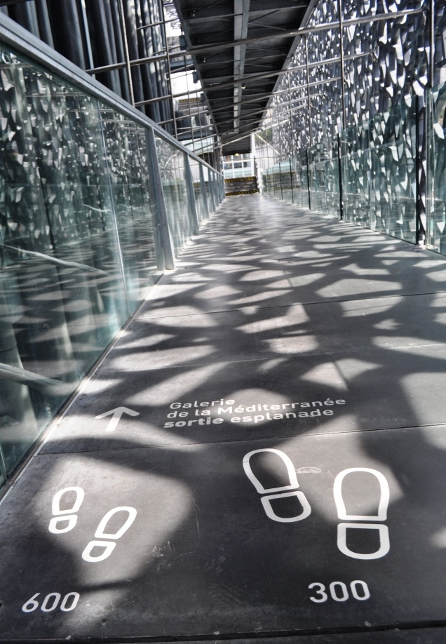 How Many Feet 'til the End of the Walkway? MuCEM