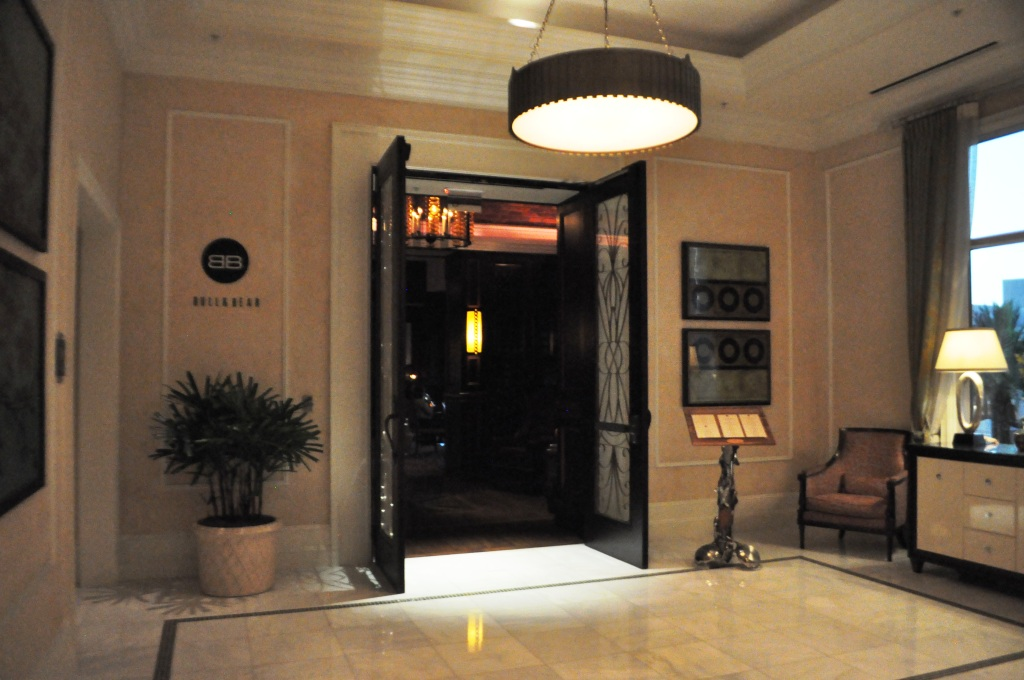 Entrance to Bull & Bear Restaurant at the Waldorf Astoria Orlando