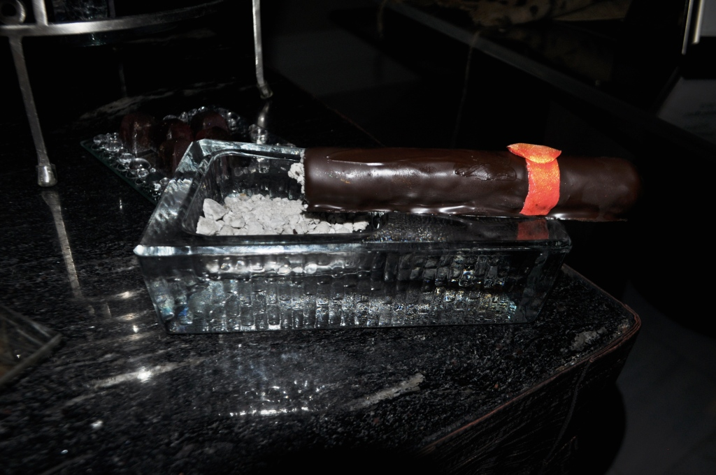 Dessert Part 2: Edible Chocolate Cigar and Ash at Bar du Chocolat at Waldorf Astoria Orlando