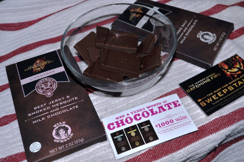 The Hunger Games: Catching Fire Inspires Sweet and Savory Chocolate Bars by Wild Ophelia