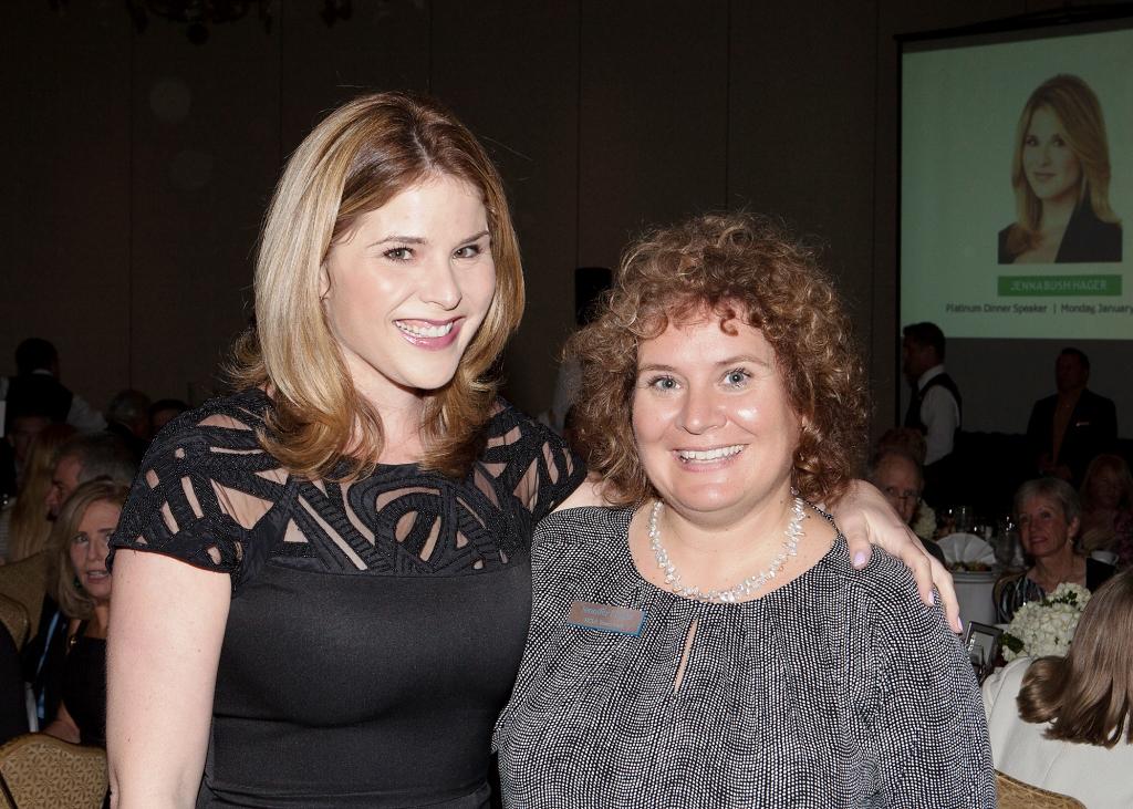 Jenna Bush Hager and I, The Ritz-Carlton, Sarasota, Fla., Jan. 13, 2014. Photo Credit: Robert Pope Photography
