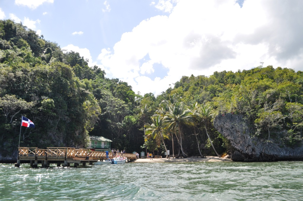 Dock at La Cueva de la Arena, Los Haitises National Park, Dominican Republic