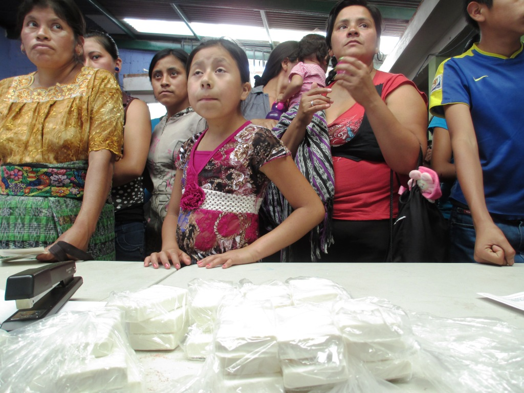 People Waited in Line for Soap During This Soap Distribution Trip with Clean the World to Guatemala, May 2014 #soapsaveslives