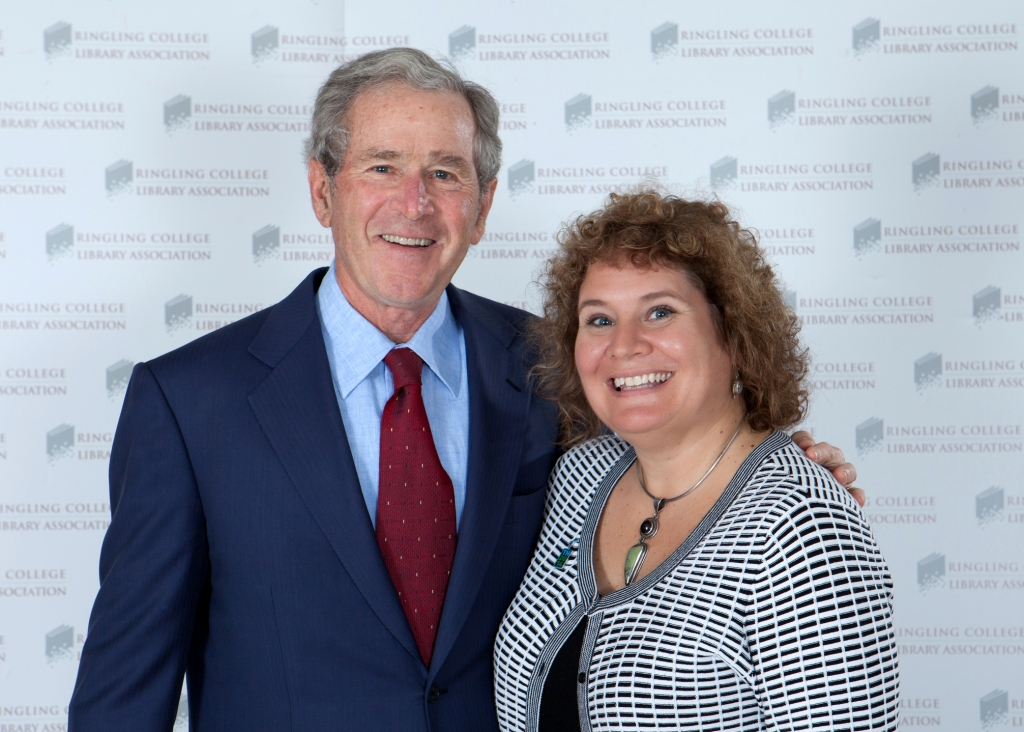 Since I'm Writing About the Bush Family, Thought I'd Through in This Photo of Me with President George W. Bush in Sarasota Earlier This Year. Image Credit: www.robertpopephotography.com