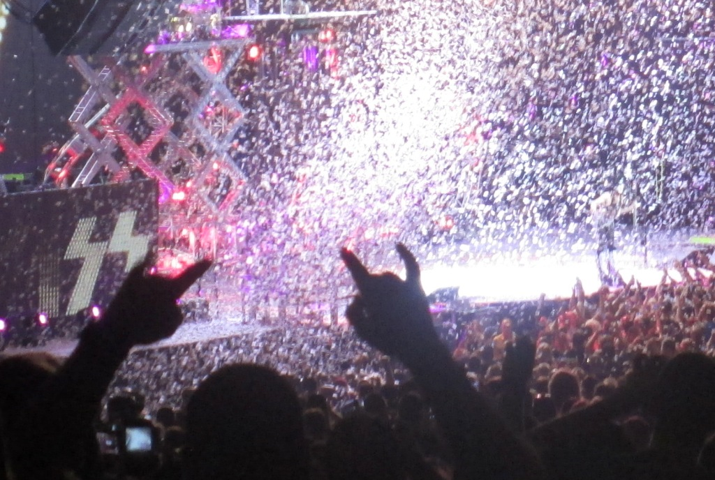 Rocking Out During KISS at MIDFLORIDA Credit Union Amphitheatre at the Florida State Fairgrounds, Tampa, Fla., July 23, 2014