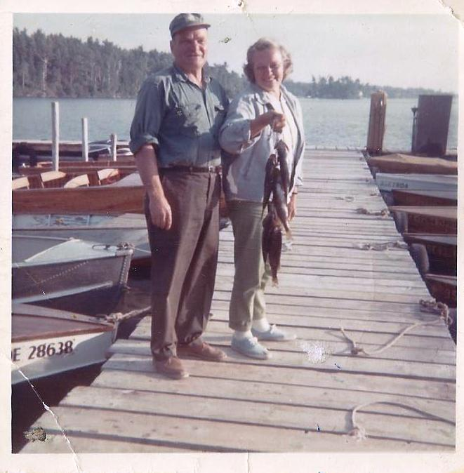 Grandpa and Grandma Huber in 1968