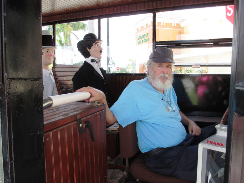 Rick Inside His Antique Bus, North Port, Fla., Aug. 2, 2014
