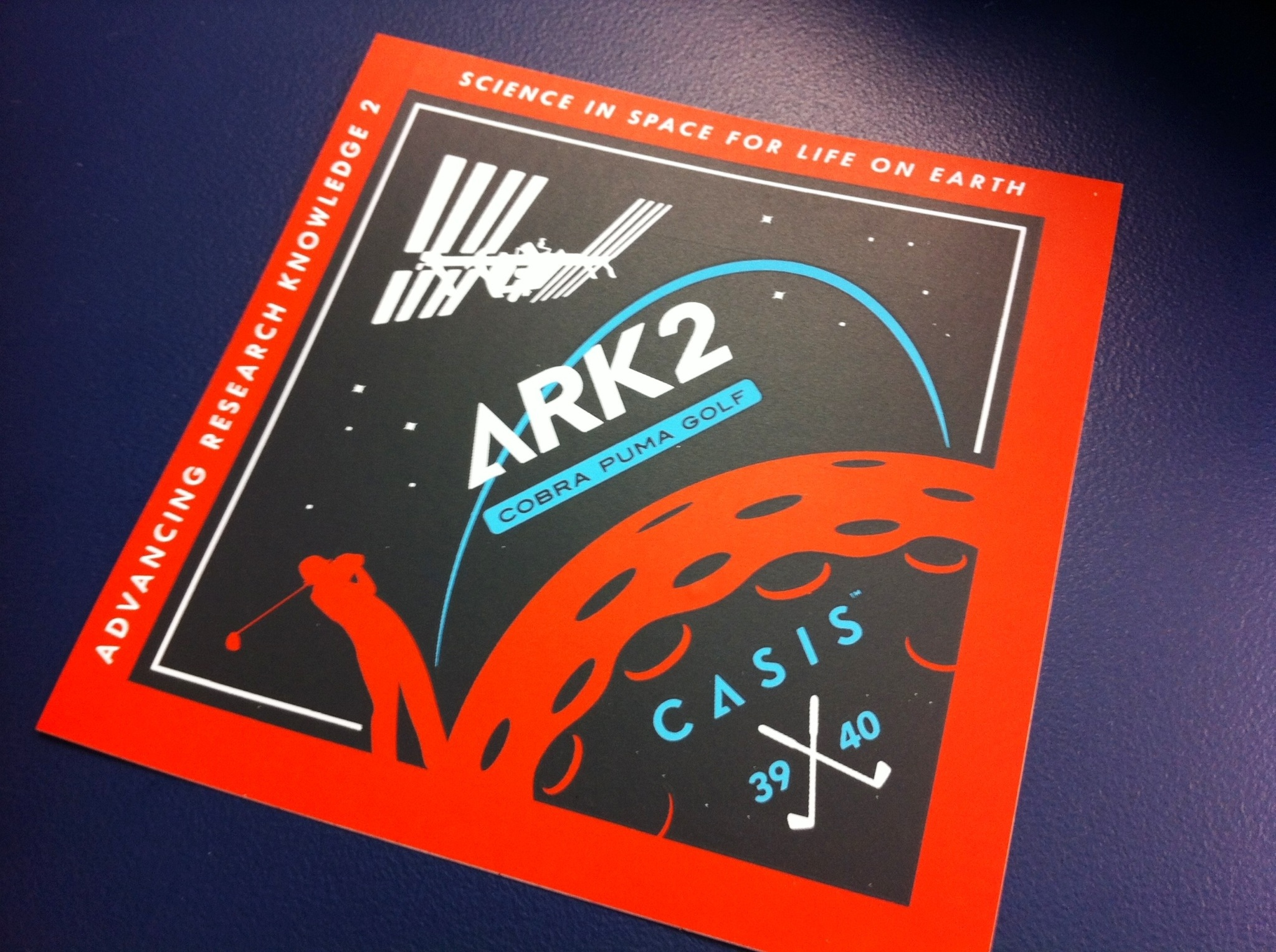 ARK2 CASIS Mission Logo Designed by Cobra-PUMA Golf #NASASocial, Sept. 2014