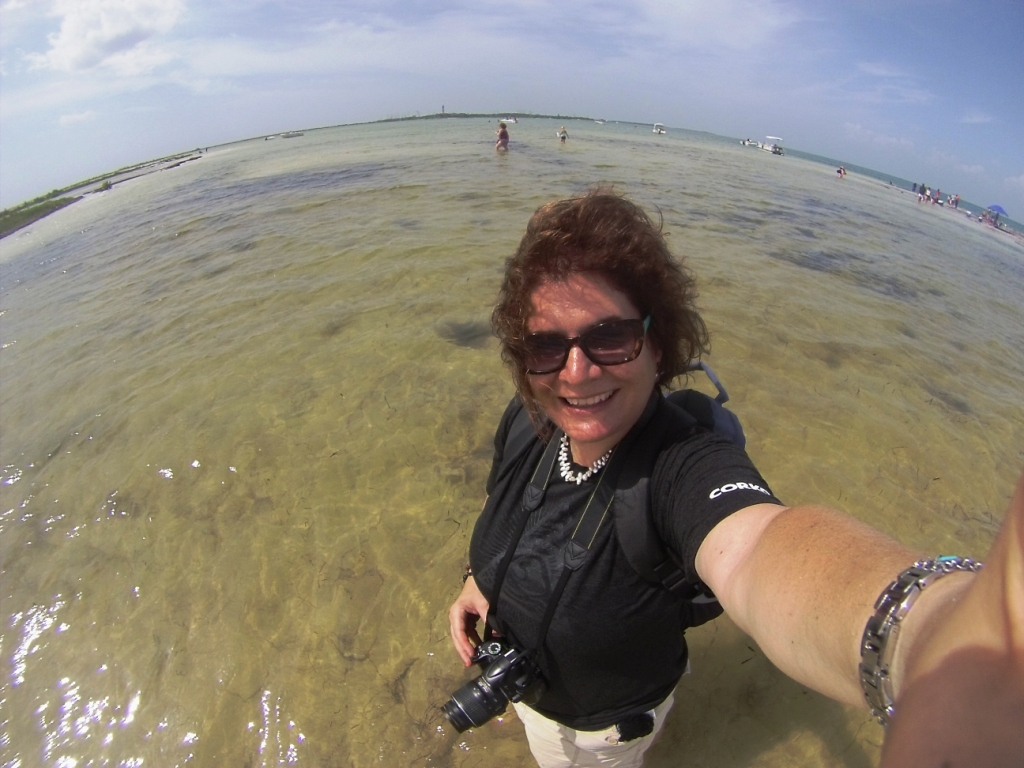 Selfie During Sponge-O-Rama Cruise Lines Tour to Anclote Key, Fla., Aug. 30, 2014