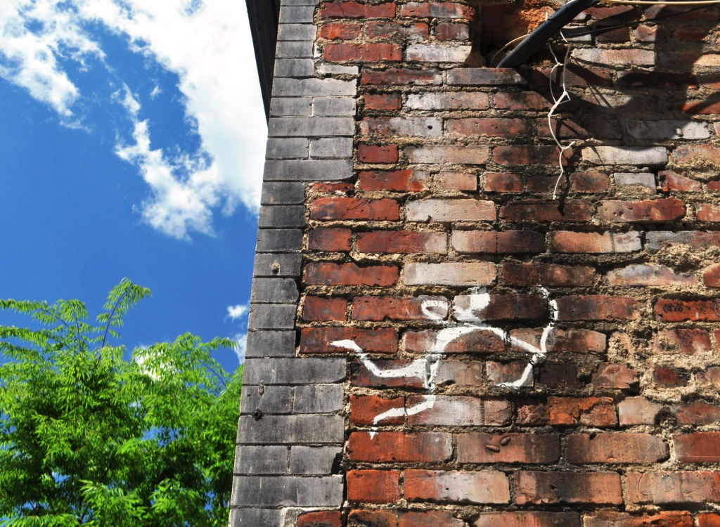 A Little Abstract Cupid Spotted in Roanoke, Virginia