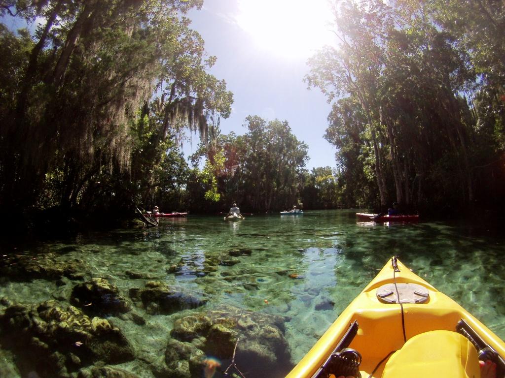 Three Sisters Springs in Crystal River National Wildlife Refuge, Crystal River, Florida