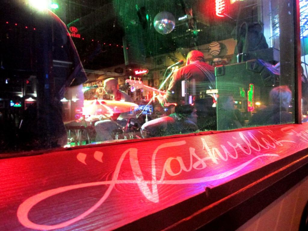 Performers at Legends Corner on Broadway in Nashville, Tenn.