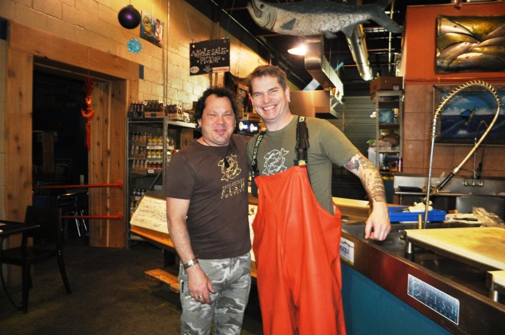 Penn Avenue Fish Company Co-Owner Henry Dewey with Head Fishmonger Timmy Reynolds