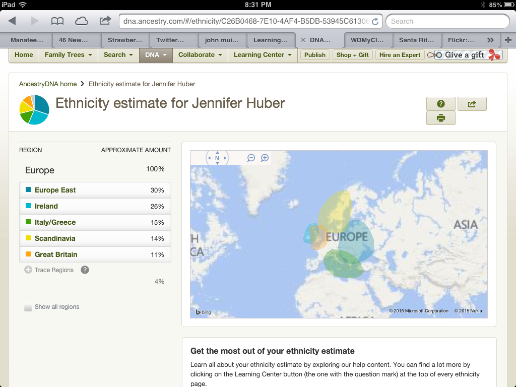 My Ancestry Map.