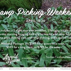 Ramp Picking Weekend at The Arnold House in the Catskills, April 18 – 20, 2015