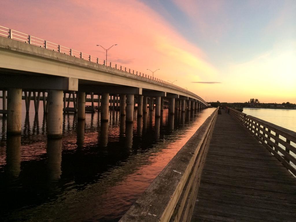 Post-Sunset Light at the El Jobean Fishing Pier, Port Charlotte, Fla.