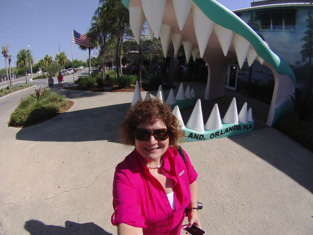 #ToothySelfie! Posting Outside the Entrance of Gatorland in Orlando, Fla.