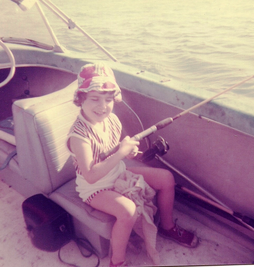 That's Me! Fishing in My Grandpa's Boat Sometime in the Early 1970s, Sarasota, Fla.