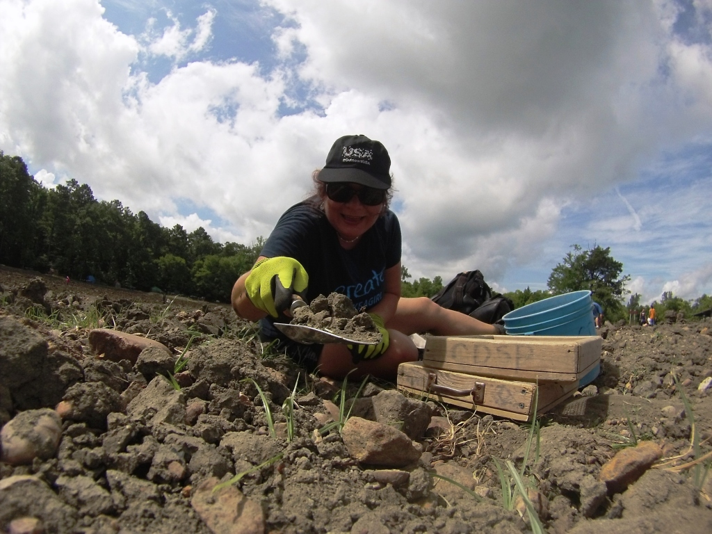 That's Me Digging for Diamonds at Crater of Diamonds State Park in Arkansas, June 15, 2015
