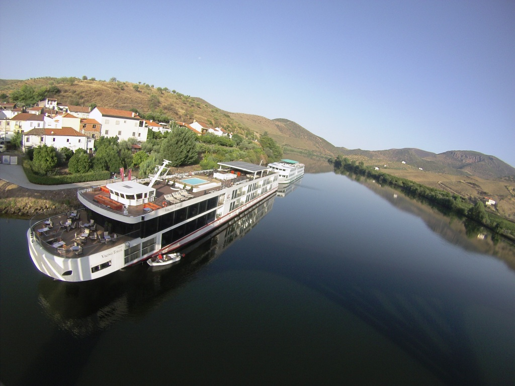 Viking Torgil Docked at Barca d'Alva, Portugal.