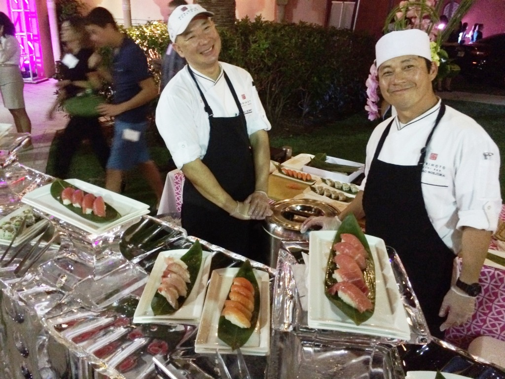 Morimoto Sushi Bar Was Represented During the Nov. 13, 2015 Reception at the Boca Raton Resort & Club, a Waldorf Astoria Resort.