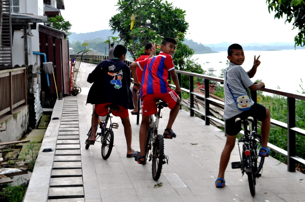 Do like the locals do and bicycle along the Mekong River while visiting Chiang Khan Thailand.