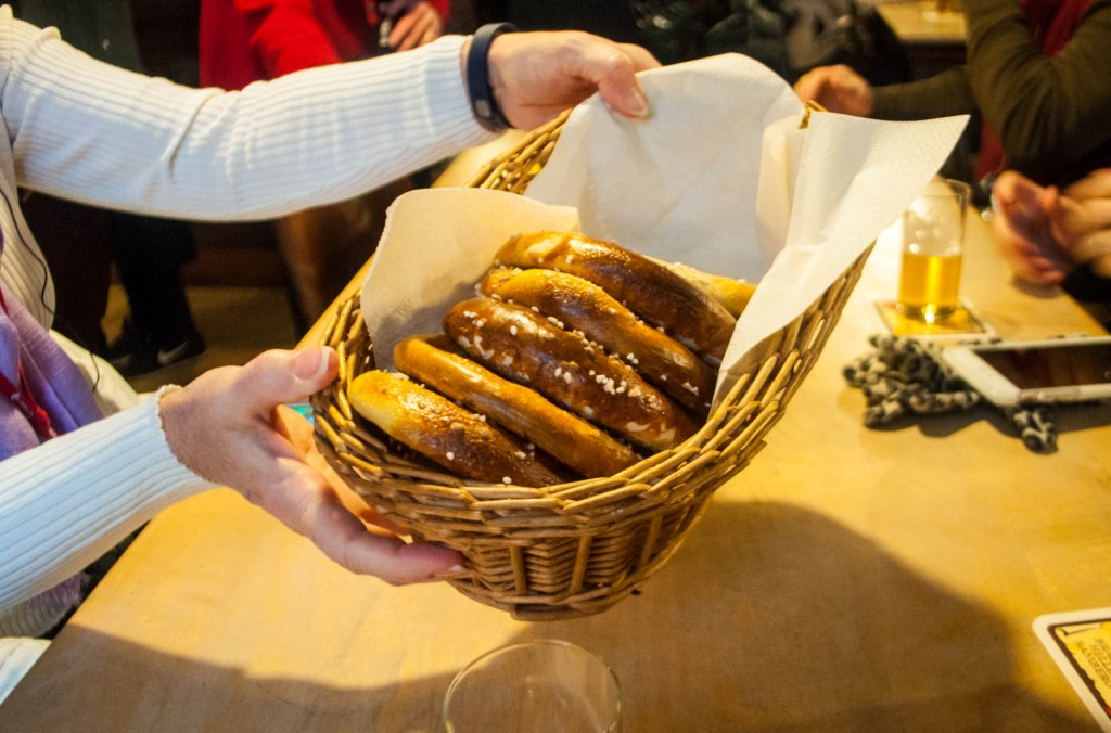 What Goes Well With German Beer? Soft, Warm German Pretzels.