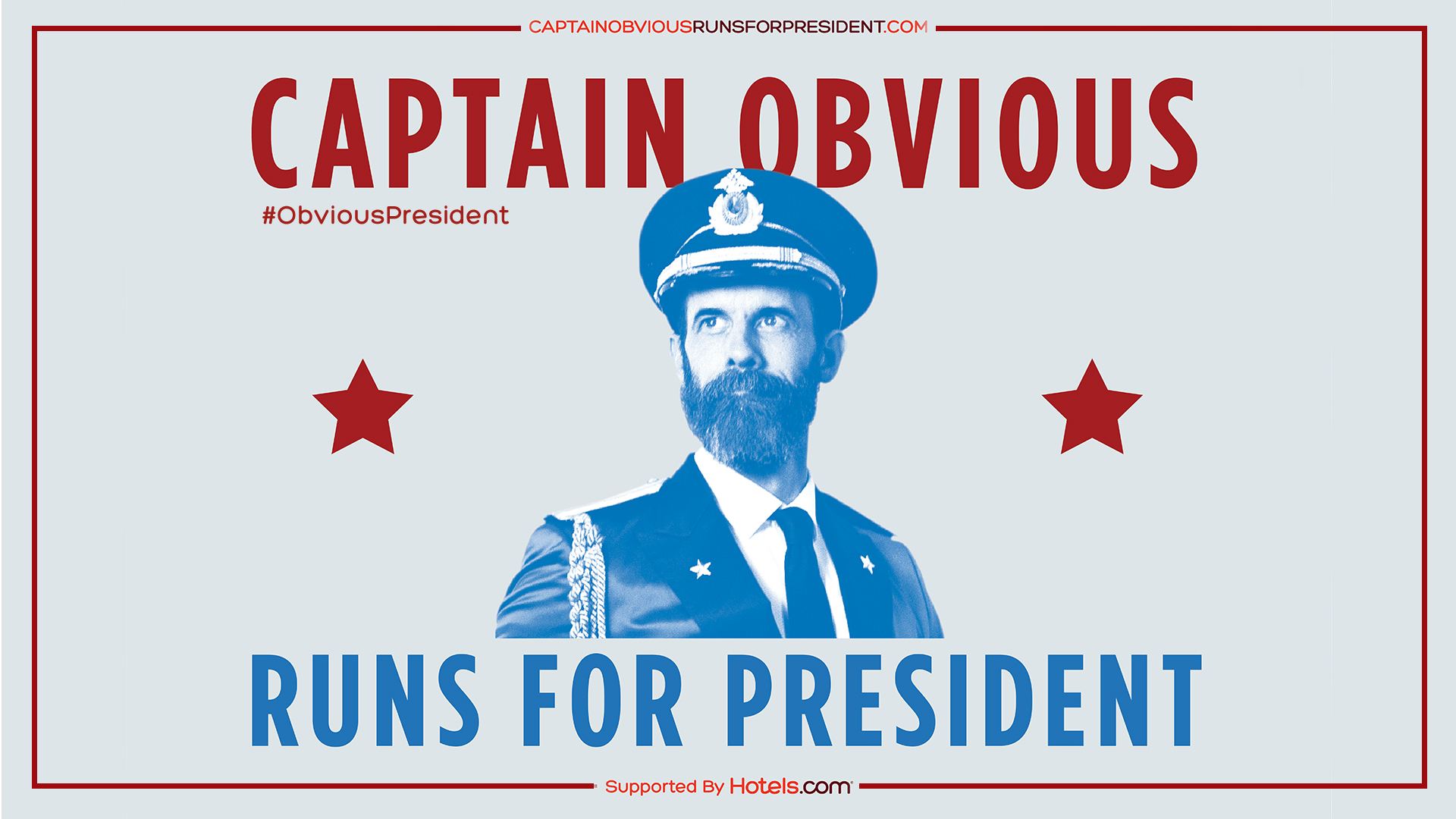 What's it take to run for president? Captain Obvious knows. Good running shoes.