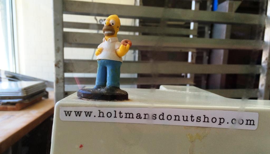 Mmm. Donuts at Holtman Donuts, Cincinnati, Ohio, April 2016.