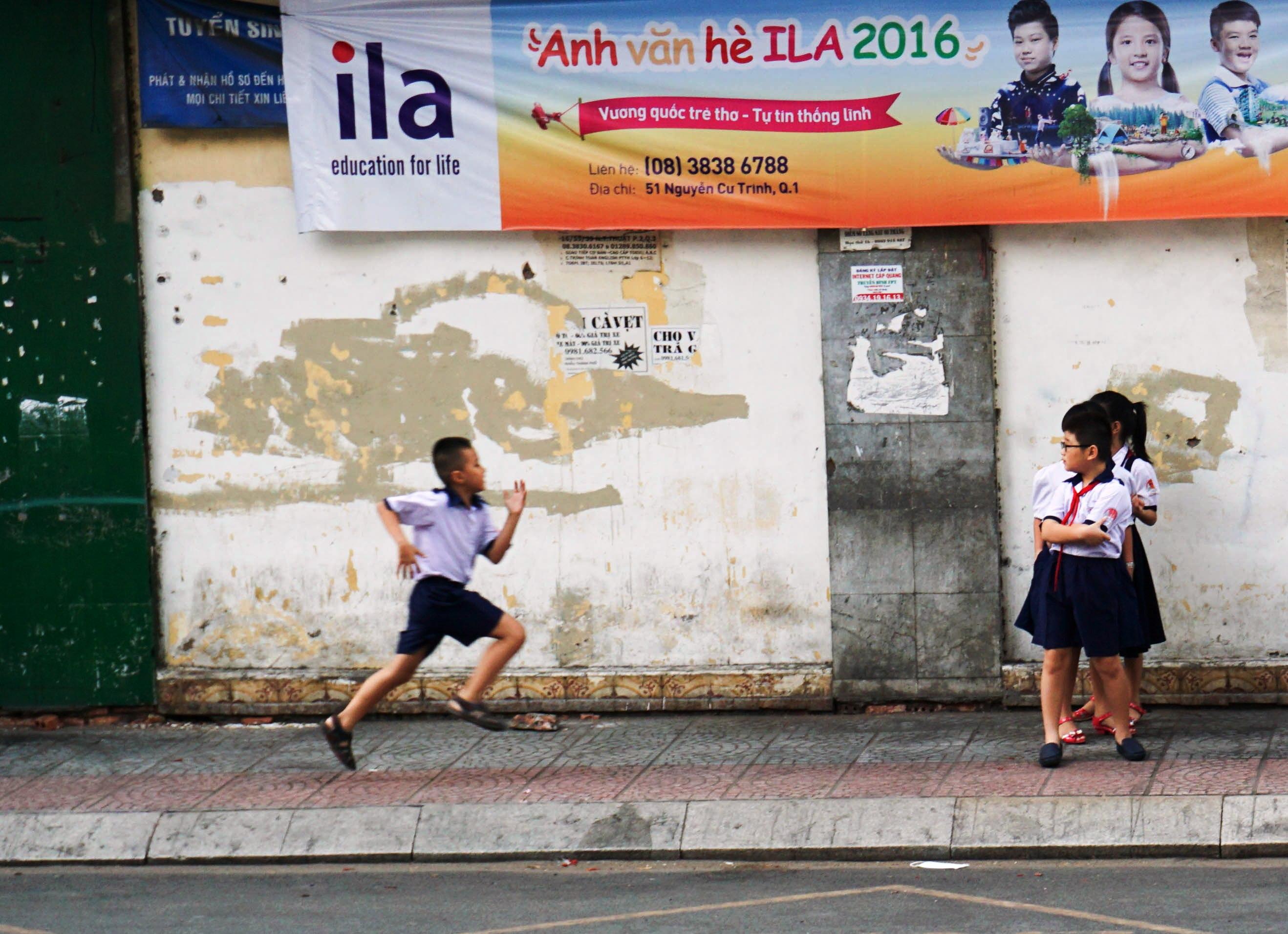 School Children in Ho Chi Minh City, Vietnam, April 2016