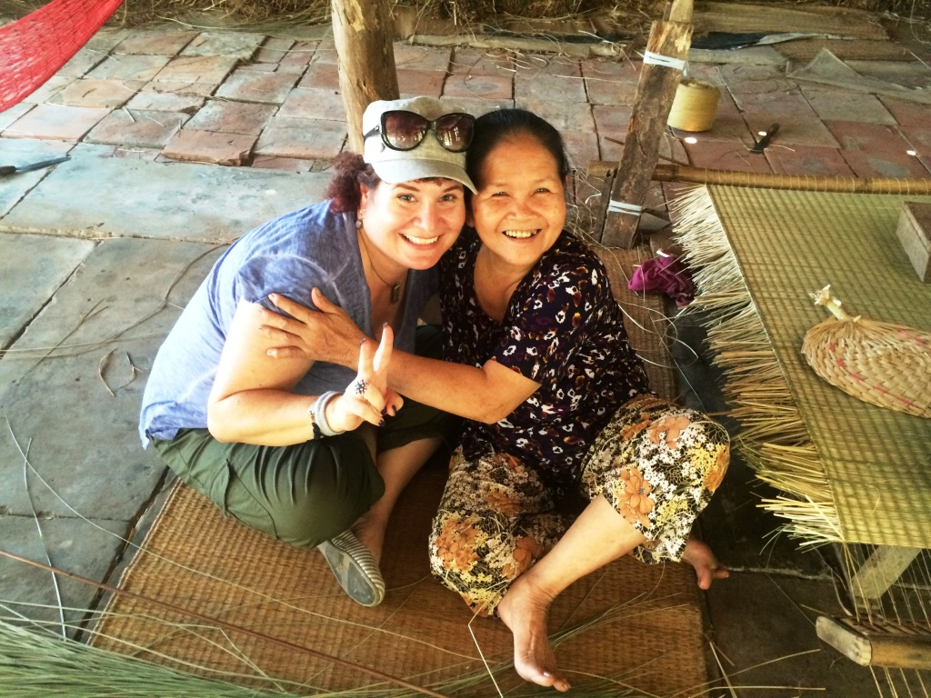 Communication is More Than Words. This Woman Taught Me to Weave a Grass Mat. Mekong Delta, Vietnam, April 2016.