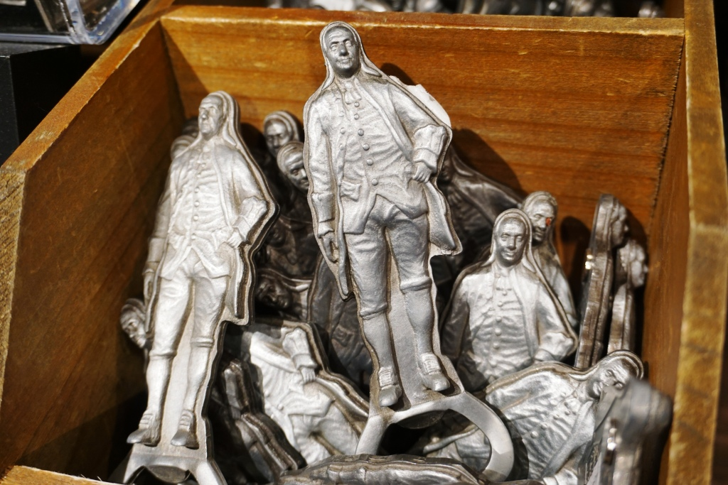 Benjamin Franklin Bottle Openers at One Liberty Observation Deck.